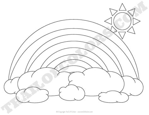 rainbow road coloring page rainbow coloring page for kids trail of colors
