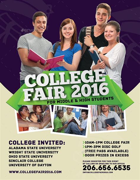 College Fair Flyer By Inddesigner Graphicriver College Fair Flyer Template