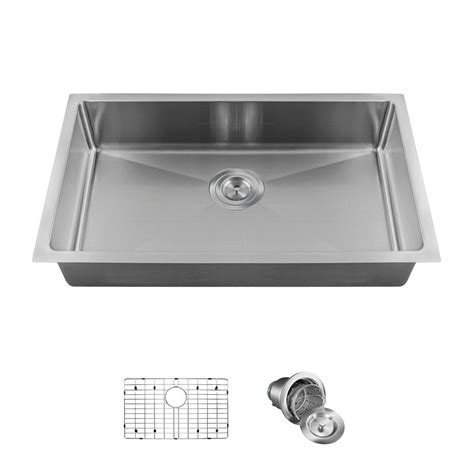 kitchen sinks direct mr direct all in one undermount stainless steel 18 in