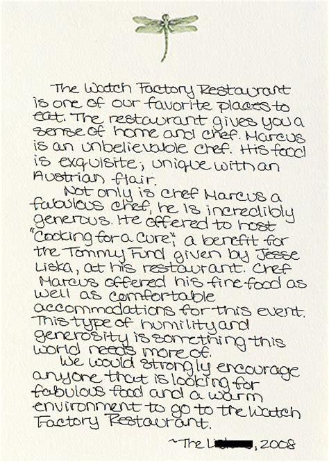 Thank You Letter For Restaurant Restaurant Reviews Etc The Factory Restaurant
