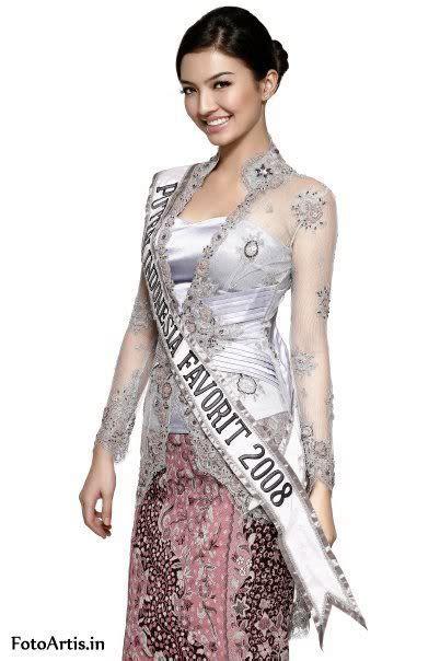 Dress Batik Raline puteri indonesia favorit 2008 raline shah