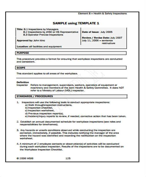 annual health and safety report template professional