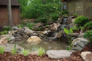 Backyard Pond Ideas Small Indoor Fish Ponds With Waterfall Small Backyard Pond Ideas