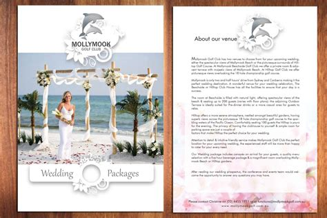 Wedding Photography Brochure Design by Wedding Brochure Design For Mollymook Golf Club By Sbss