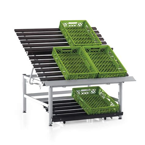 Fruits Display Rack by Slanted Display And Scissor Table For Fruit And
