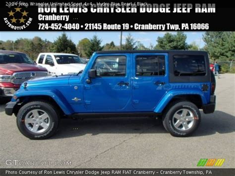 Hydro Blue Jeep Hydro Blue Pearl 2014 Jeep Wrangler Unlimited Sport 4x4