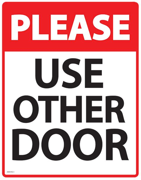 Use Other Door Sign by Business Printables Free Office Signs Calendars Org