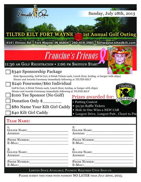 best photos of outing sign up sheet exle golf