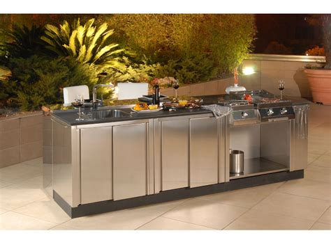 modular stainless steel outdoor kitchen cabinets modular outdoor kitchens kitchen q from bianchi digsdigs