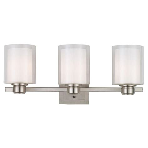 design house vanity design house oslo 3 light brushed nickel vanity light 556159 the home depot