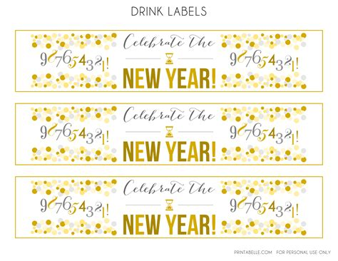 printable new year tags happy new years eve 2014 best free nye party diy