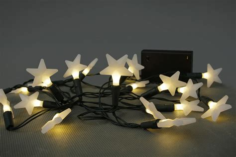 battery operated led star lights opus battery operated led 20 x warm white frosted star