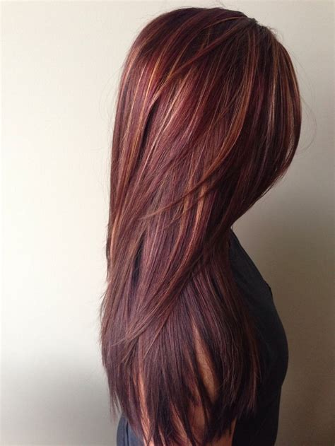 photos of colored hair with high lights of gray how to rich red hair color with golden caramel highlights