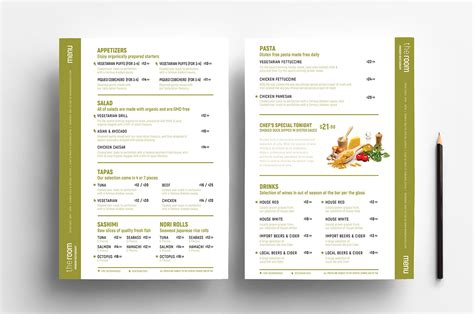 free menu templates in psd ai vector brandpacks