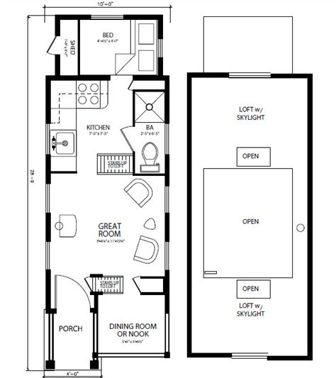 Small Home Floor Plan Ideas - tiny house dimensions home planning ideas 2017