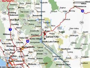 reno california map california map