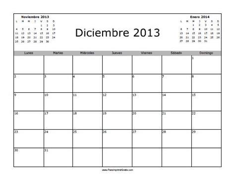 Calendario Diciembre 2013 Calendario Diciembre 2013 En Blanco Para Imprimir Gratis
