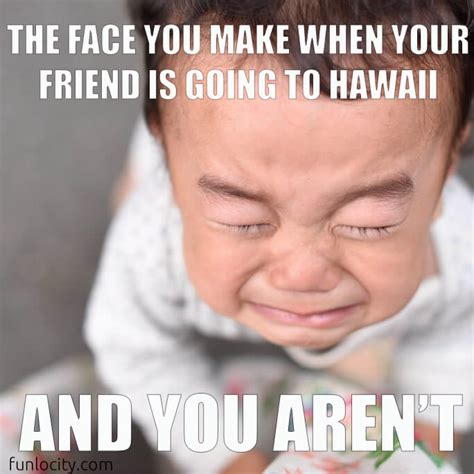 Hawaiian Memes - when your friend is going to hawaii
