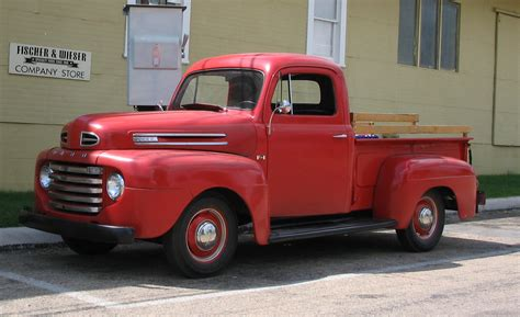 ford truck red old ford trucks red