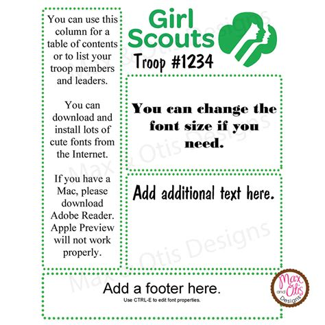 girl scout multi level troop newsletter template work