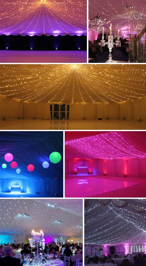 Marquee Ceiling Decorations by Marquee Lighting Wedding Lights Inspiration