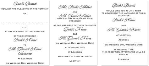 Wedding Invitation Wording What To Write Templates Exles Wedding Invitation Wording Templates