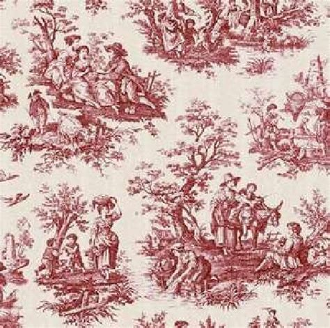 red toile drapes waverly country life toile fabric red gathered valance