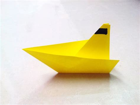 Paper Folding Ship - how to make an origami paper boat 1 origami paper