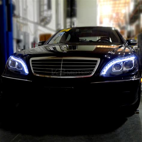 mercedes headlights 1998 2006 mercedes w220 s class black led projector