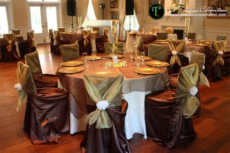 brown and gold decorations gold brown and orange fall wedding reception table setting