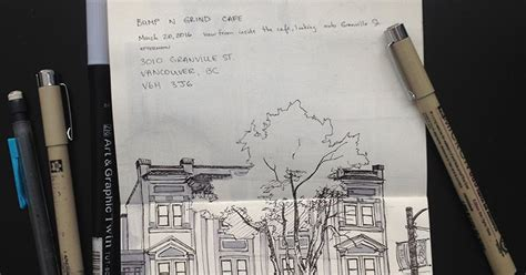 sketchbook vancouver souliere sketching 3 cafe view on