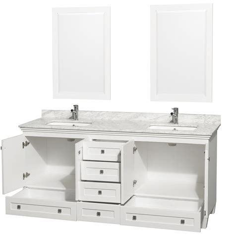 "Acclaim 72"" White Bathroom Vanity Set, Four functional"