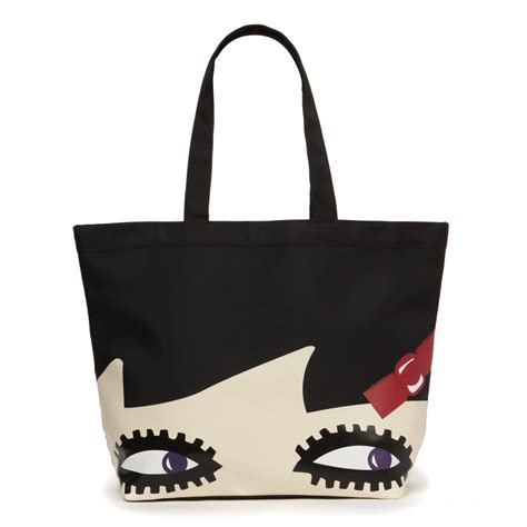 lulu guinness doll luisa tote in black lyst