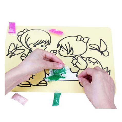 Mainan Pasir 3 Warna Plus 4 Cetakan Mainan Kado Edukatif Anak Murah paket 6 pc mainan mewarnai gambar dengan pasir uk kecil
