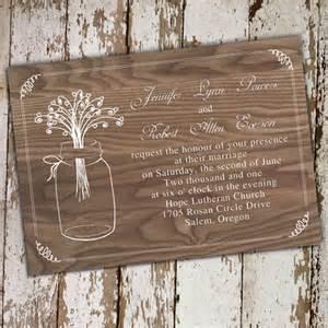 rustic wedding invitations cheap rustic wood jars wedding invitations ewi245 as low