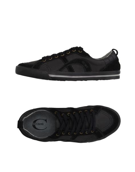 just cavalli sneakers just cavalli low tops sneakers in black for lyst