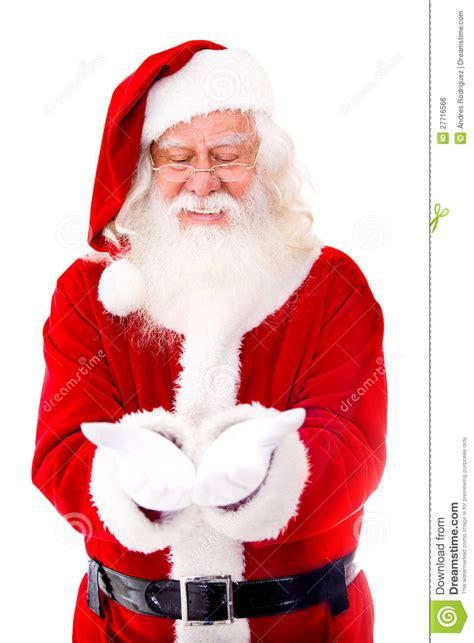 santa claus holding  stock photo image  people presenting