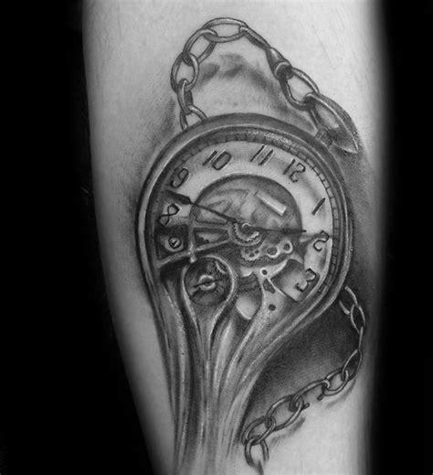 melting clock tattoo 40 melting clock designs for salvador dali