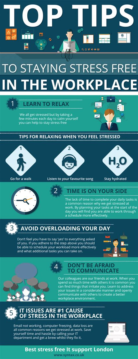 free tips top tips to staying stress free in the workplace