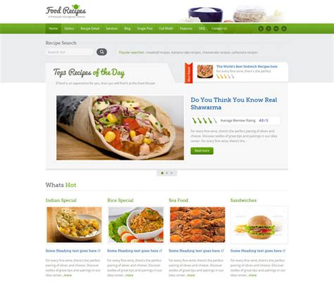 blogger themes food 10 beautiful restaurant cafe website templates