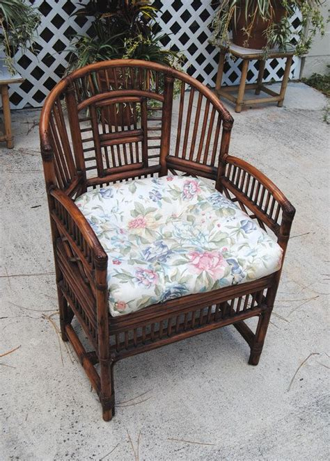 vintage brighton style rattan bamboo chair asian chinoiserie palm beach hollywood regency