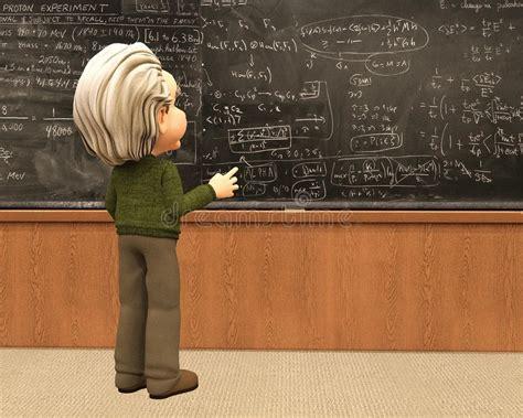 einstein scientist teach math school stock illustration
