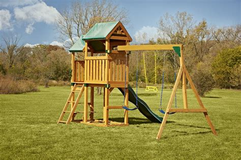 complete swing sets swing n slide lindley wood swing set lindley wood