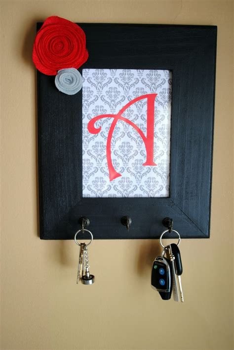 picture frame key holder easy diy handmade