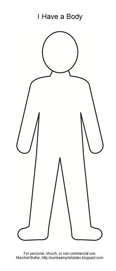 coloring pages person outline body outline clipart google search images pinterest