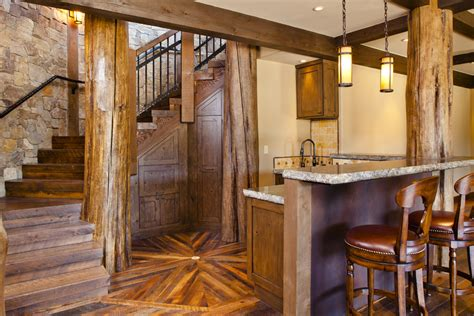 rustic basement bar designs home bar style with