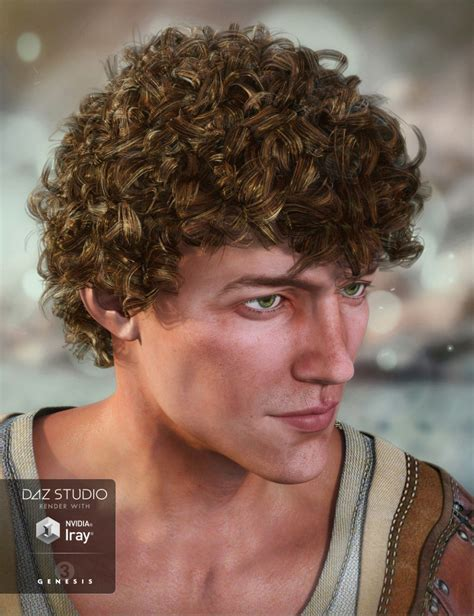 greek boy haircut jonas hair for genesis 3 male s 3d models and 3d