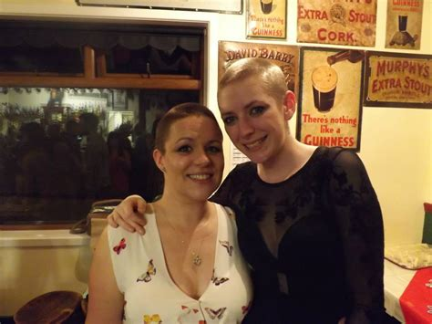 female headshave this month mossbank women in charity headshave the shetland times ltd