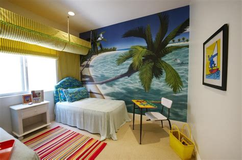 beach feel bedroom model home bedroom tropical kids los angeles by