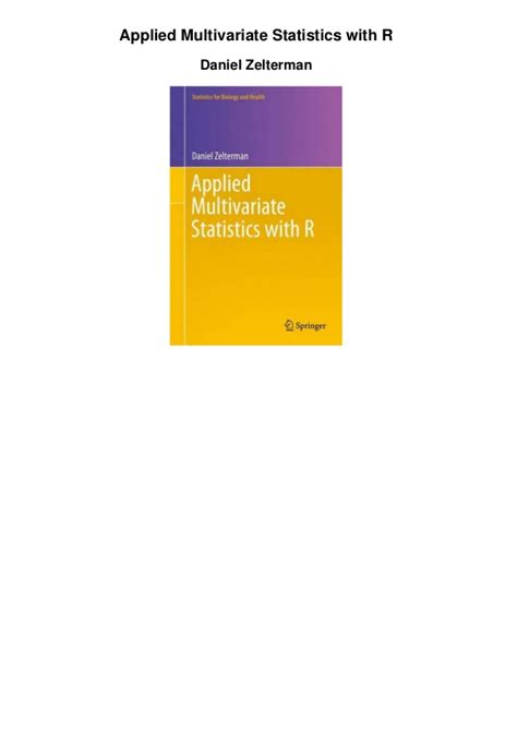Applied Multivariate Statistics With R Applied Statistics With Spss Pdf Cqutorrent